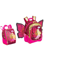 Mochila De Costas G Barbie Butterfly Princesa +lancheira