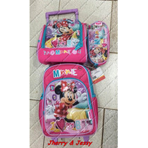 Mochila Minnie Minie Kit Completo Com Lancheira E Estojo