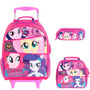 Kit Mochila My Little Pony ( G ) + Lancheira + Estojo Duplo