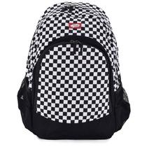 Mochila Vans Van Doren Backpack Black White Checkerboard Vn-