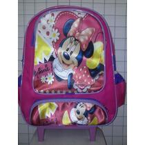 Mochila Minie Mouse Disney Escolar Rodinhas Pronta Entrega