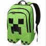 Mochila Minecraft Creeper Importada Original * Promoção *