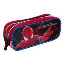 Estojo Escolar Duplo Spider Man Homem Aranha The Amazing