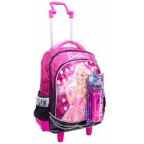 Mochila Infantil C/ Rodinhas M Barbie Rock