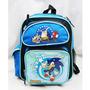 Pequeno Backpack Sonic The Hedgehog Brilhante Livro Menino S