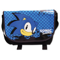 Messenger Bag Sonic The Hedgehog O Sonic Principal Azul Ge55