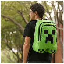 Mochila Minecraft Creeper Original - Mais Barata Do M. Livre
