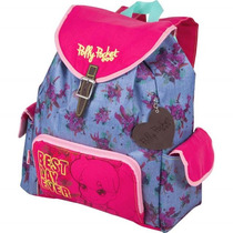 Mochila Escolar Infantil Polly Pocket Bolso Lateral Sestini