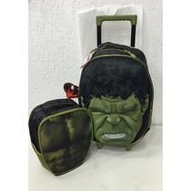Kit Mochilete + Lancheira Hulk - Xeryus