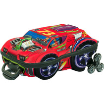 Mochila Escolar Mochilete 3d Carro Thunderbolt + Lancheira