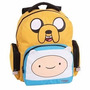 Mochila Escolar Adventure Time Jake Media - 2 Bolsos 19731