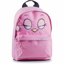 Mochila Escolar Infantil Angry Birds Gd 1bolso Rosa Santino