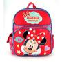 Pequena Mochila Disney Minnie Mouse Vermelhos Corações 635