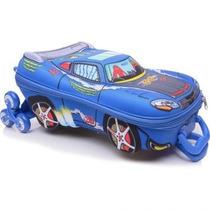 Kit Mochila + Lancheira Fast V-8 Azul Max Toy