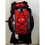 Mochila Sports Impermeável, 63 Litros, Camping - Vermelha