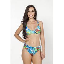 Moda Praia Feminina Biquini Sunquíni Azul Verão 2016