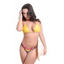 Biquíni Cortininha Feminino Moda Praia Melhor Preço Verão