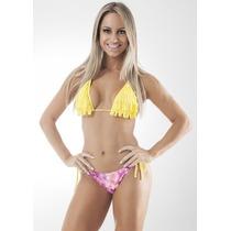 Biquíni Bikini Com Franja Fio Dental Panicat Verão 2015