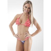 Biquíni Bikini Cortininha Babado Panicat Verão 2015