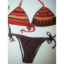 Biquini Croche Praia Verão Calor Panicat Banho Mar Boho