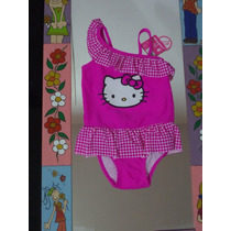 Maiô Hello Kitty Importado Proteção Solar Uv 50 + Infantil