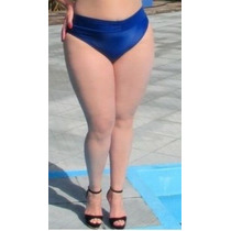 Calcinha Sunquini Tam 50 E 52 Plus Size Preta E Azul