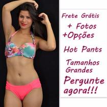 Biquíni Plus Size Hot Pant C/bojo R.16152 Frete Grátis