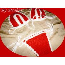 Biquíni De Crochê Com Ou Sem Bojo - Calcinha Forrada