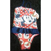 Maiô Biquini Minnie Mouse Infantil Bebê Criança Tam.2,6,8,10