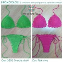 Promoção!! Biquini De Crochê - 2 Conjuntos