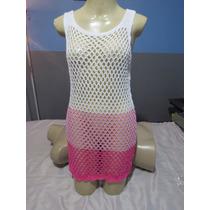Vestido Saída De Praia De Crochê Exclusividade Promoção Top