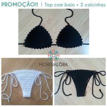 Biquini De Crochê - Promoção 1 Top + 2 Calcinhas!!