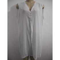 Blusa Vestido Saida De Praia Branca, Tam U ( Bom Para M)