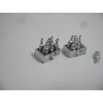 Miniatura De Caixa Com Garrafa Para Navio Feita Em Metal