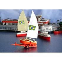 Raridade Reboque + Veleiro Ho 1:87 (navio Lancha Barco)