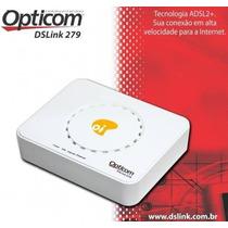 Modem Adsl2+ N O V O Opticom Dslink 279 Com Kit Oi Velox