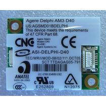 Placa Fax Modem Agere Delphi Am3 D40 Agsmd01bdelphi Msi-1414