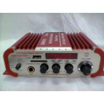 Amplificador Usb, Sd, Fm, Mp3. 4 Canais Para Carro Ou Moto