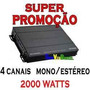 Módulo Amplificador B.buster- 2000 Watts - 4 Canais