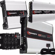 Kit Taramps Dsp 3000w + Ts800w Compact + Fonte 120a + Crx4