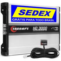 Taramps Hd 3000 Amplificador Digital 3598w Rms +brinde+frete