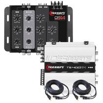 Modulo Taramps Ts400 T400 + Crossover Eletrônico Crx4