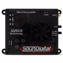 Modulo Amplificador Soundigital Sd250.1 + Cabo Rca Stetson