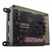 Módulo Amplificador Sd600.1d 700 Wrms 2 Ohms Soundigital