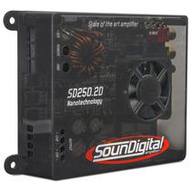 Modulo Amplificador Soundigital Sd250.2 + Cabo Rca Gratis