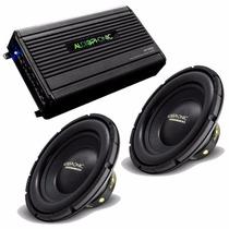 Kit Audiophonic C/ 1 Mód Hp1000 + 2 Sub 10 Pol 800w S1-10s4