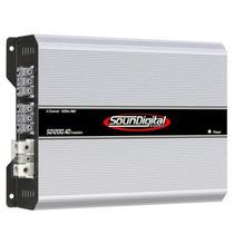 Módulo Amplificador Soundigital Sd-1200.4 1200w Rms 4 Canais