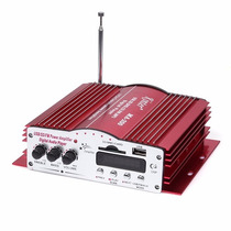 Mini Modulo Amplificador Usb Sd Radio Fm 4 Canais E Mp3