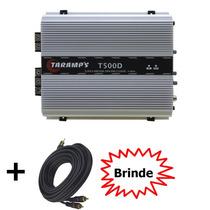 Amplificador Taramps T-500d 1 Canais 500w Rms 2ohms+cabo Rca