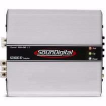 Modulo Amplificador Soundigital Sd1600 1600w Rms 1 E 2 Ohms